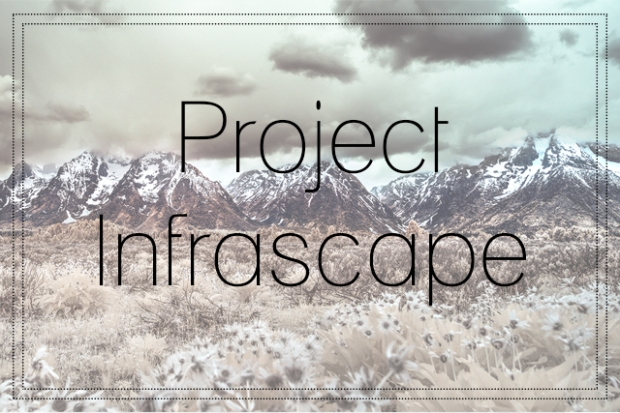 Project Infrascape Title over Infrared Landscape
